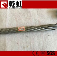 CE plastic steel wire rope 6x37 FC wire rope korea