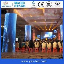 indoor led rental display ph10 cylindrical stage backdrop manufacturers