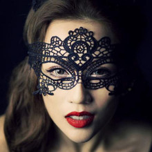 Girls Women Hot sales Black Sexy Lady Lace Mask Cutout Eye Mask for Masquerade Party Fancy Dress Costume