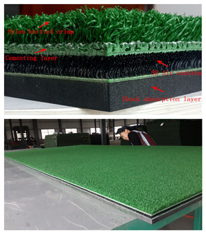 Factory made YGT nylon turf 3D golf mat