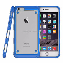 High Quality Soft Two-In-One Bumper Armor Dropped Transparent Mobile Phone Case Cover Protective For Iphone6/7