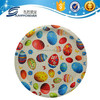 Plastic round tray with easter eggs