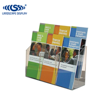 ISO approved clear flyer acrylic display stand/ acrylic brochure holder