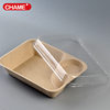 Fashion design disposable oven safe paper pulp food container