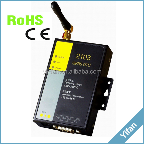 EF2103 RS232 RS485 RS422 GPRS GSM modem for power monitoring
