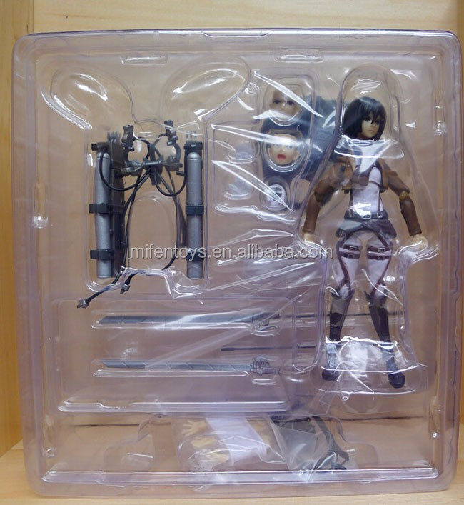 Figma Max Factory 203 Anime Attack On Titan Mikasa Ackerman Action Figure Doll Model Figurine PVC Figures Toy Collection Gift