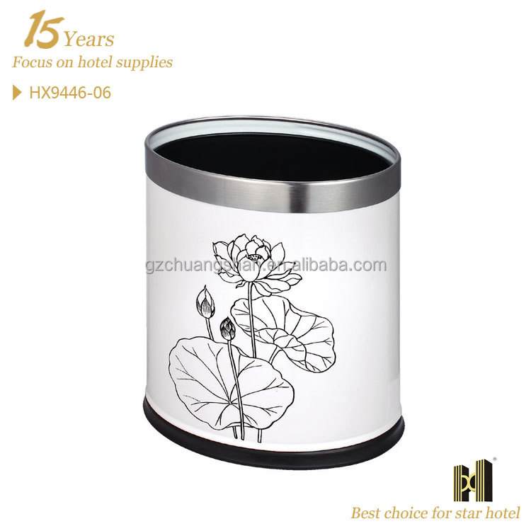 Lotus Flower Printing Double layers dust bin