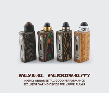 Limited Edition!! Highly Ornamental VPARK Wax Vape V5 Originality Stabilized Wood Vapor Mod with Vivid Colors & Special Wrinkles
