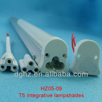 factory direct sale 4ft t5 integrated plastic led components tube with diffused pc cover