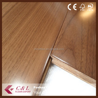 Hardwood American black walnut floor