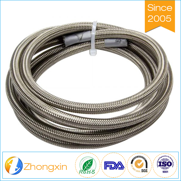 Excellent electrical properties high temprature stainless steel braided ptfe hose gas hose