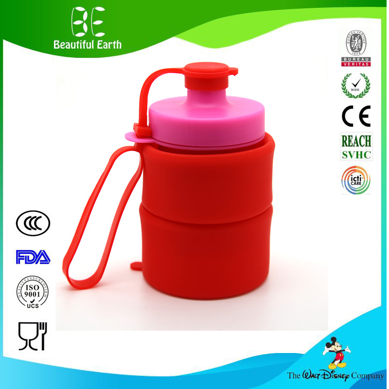Fashion design siliocne water bottle manufacturer, drink water container, portable silicone bottle for gym
