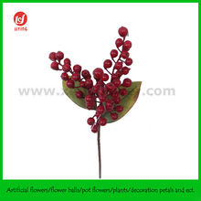 "8"" Decorative Artificial Christmas Berry Pick W/LVS"