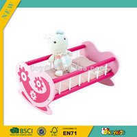 wholesale mini baby wooden doll bed,reliable quality wooden doll bed,baby wooden doll furniture for sale W06E010