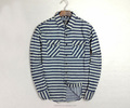 Stylish 100% cotton denim shirt striped long sleeve shirt for men