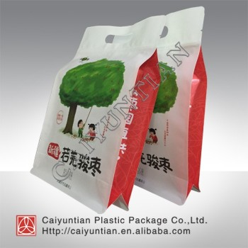 china suppliers plastic lined white kraft paper food packaging bags with clear window for red dates