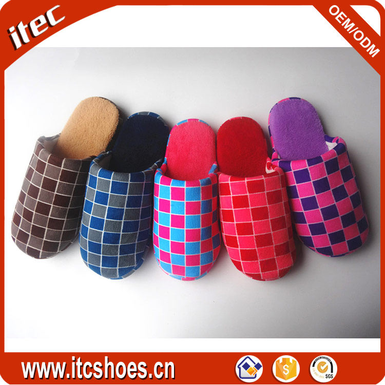 Warm fabric coral fleece autumn winter indoor cheap wholesale <strong>slippers</strong>