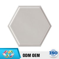 China Product Hexagon Convex Golden Thin Prices Bathroom Ceramic Tiles