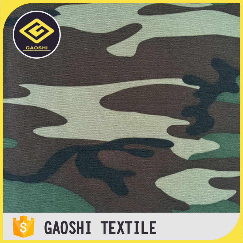 Polyester 600D PVC Printed Waterproof Military Car Upholstery Camouflage Fabric