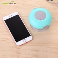 2017 VIEWMEDIA bath room bluetooth speaker with hook for mobile phone