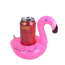 Flamingo shape Inflatable Drink Cup Holders Floating Toy for pool party mobile tray custom inflatable toys