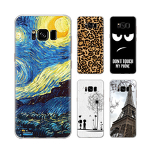 2017 new design silk screen printing TPU/ PC mobile phone case for samsung galaxy s8