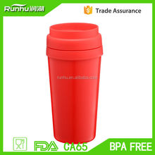 Fashion eco friendly various customized plastic coffee mug RH127-16