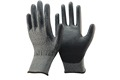 NMSAFETY EN388 18 gauge PU Palm coated level 5 cutting gloves