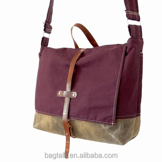 LT1164 Fashion Durable Purple Lady Women Canvas Shoulder Handbag