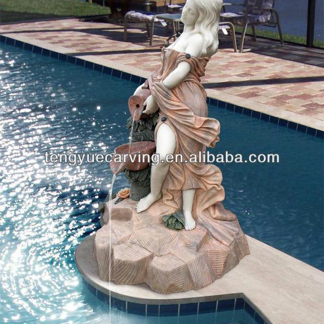 Classic Decorative Marble Lady Water Fountains