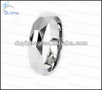 silver plain tungsten ring fashion jewelry