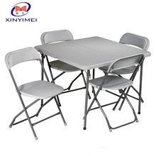 plastic outdoor folding picnic table and chair
