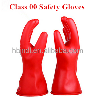Durable high voltage safety 14 inch dielectric gloves class <strong>00</strong>
