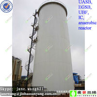 biogas Anaerobic reactor for water treatment plant