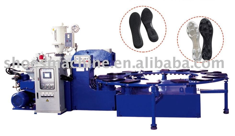 HM-118X Rotary C-Type PVC/TPR/TPU/TR Shoe Sole Making Injection Molding Machine(1 Color)