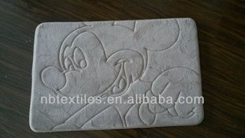 washable memory foam bath mat