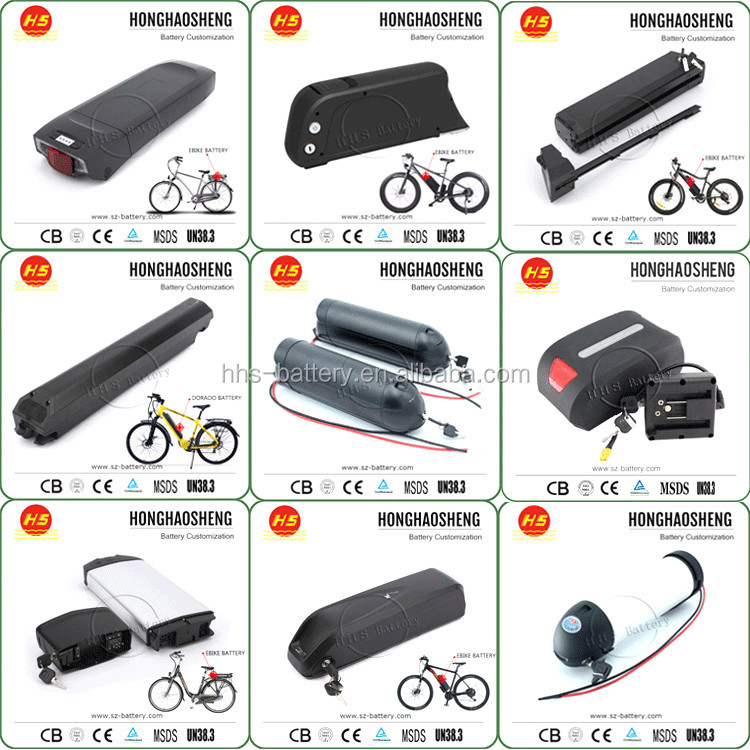 Customize 36 Volt 10Ah 11Ah 12AH 13Ah 14AH 15Ah 16Ah 17Ah 18Ah 19Ah 20Ah lithium electric bike battery 36v 1000w with 2A charger