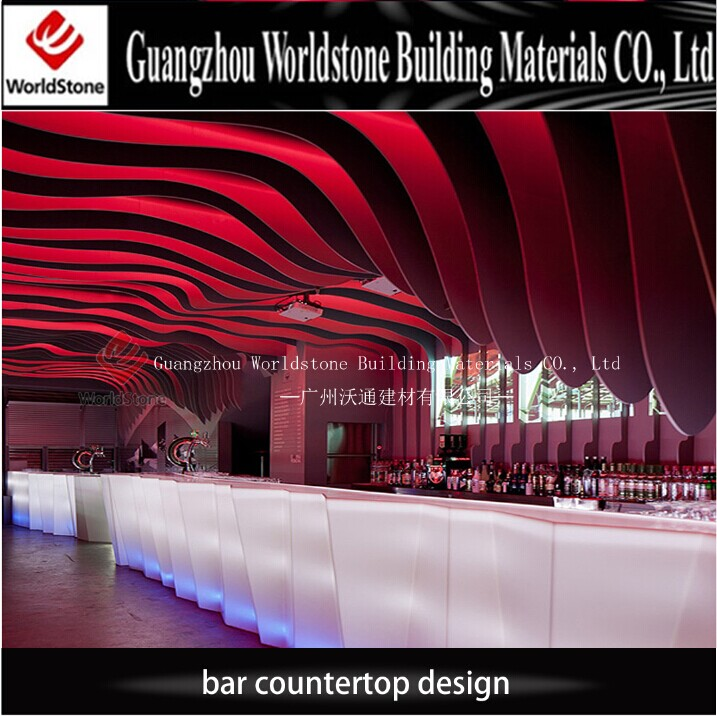 new product long bar counter luminous drink bar counter