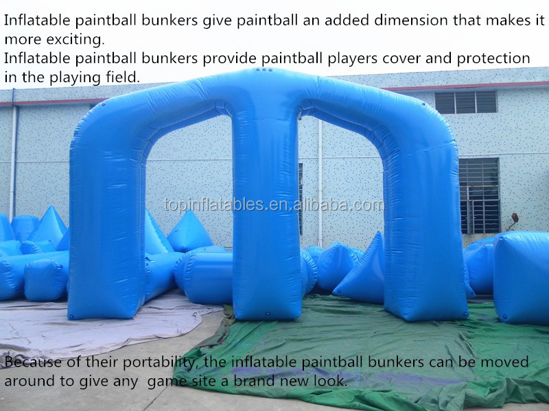 interactive inflatable paintball Bunkers, teamwork ,shooting game