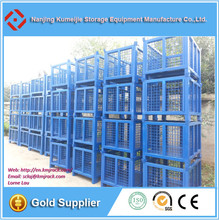 Collapsible Panel Box Steel Mesh Grid Cage Metal Stackable Box Pallet