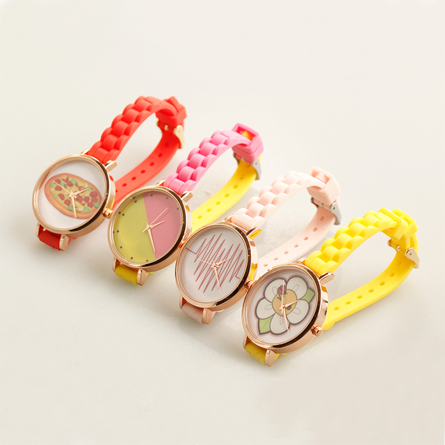geneva ladies silicone rubber band watch OEM factory watch for men and women fashion style