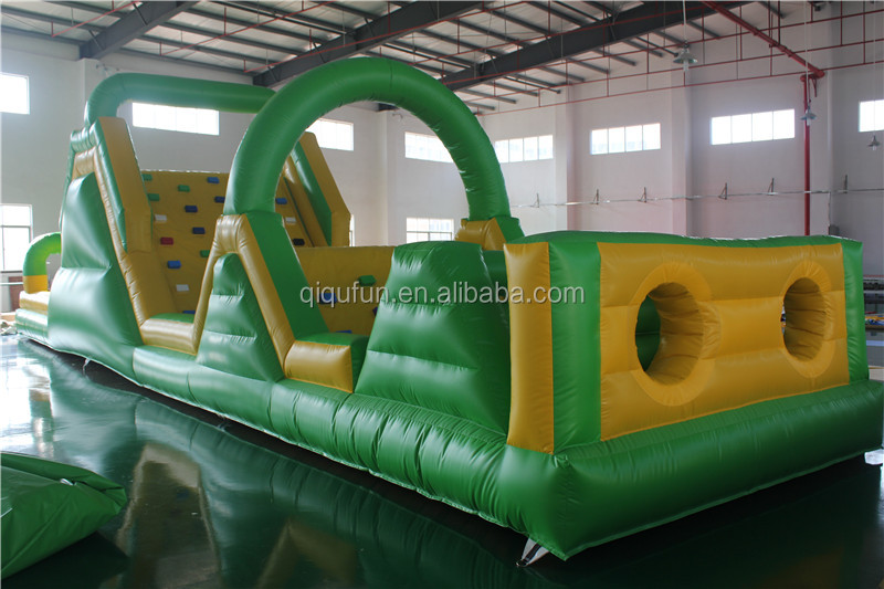 2017 hot sale popular adult outdoor inflatable water obstacle course equipment for sale