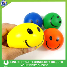 Soft PU Foam Smile Face Anti Stress Ball