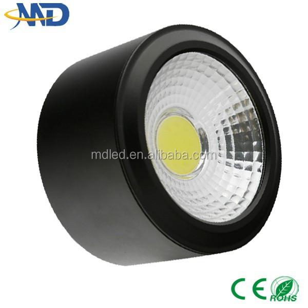 best new design led ceiling 5W COB led <strong>downlight</strong> 90-260V 3 years warranty Surface Mounted led square <strong>downlight</strong>