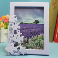 7 inch digital bulk plastic digital fish shape photo picture frame