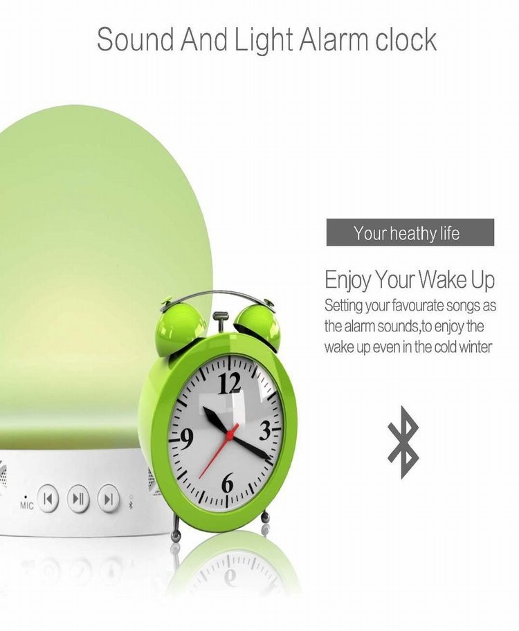 App control smart LED light lamp RGB light bulb with dual channel bluetooth speaker