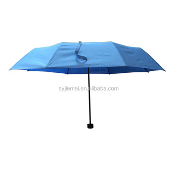 Solid color 190T Pongee fabric 3 Folding Umbrella