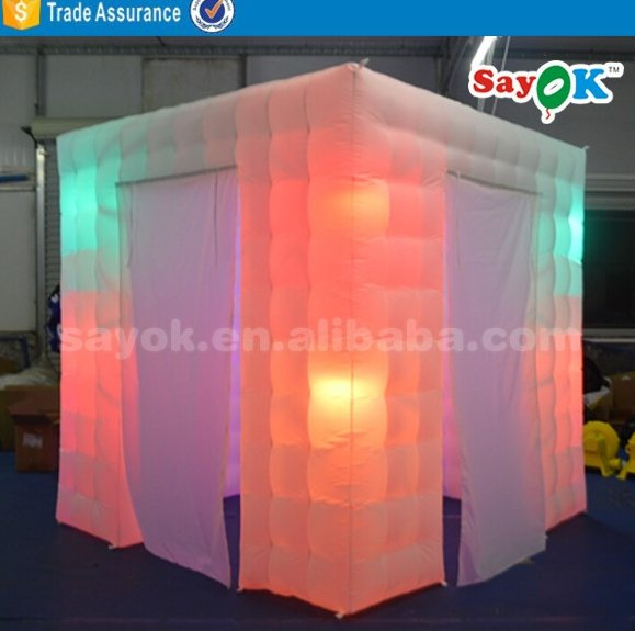 cheap inflatable photo booth tent for sale with led