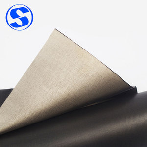 Black Polyester matter electrical conductive fabric emf protection fabric