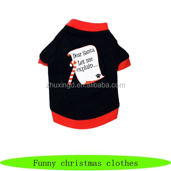 Funny pet christmas clothes, christmas cloths for dog, pet cheap christmas costumes